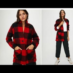 Wilfred off-duty jacket size small in black & red